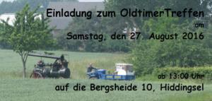 OldtimerTreffen am 27. August 2016